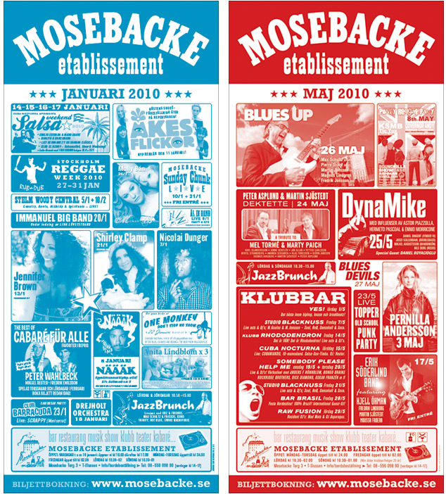 Posters: Mosebacke Etablissement 1999–2010