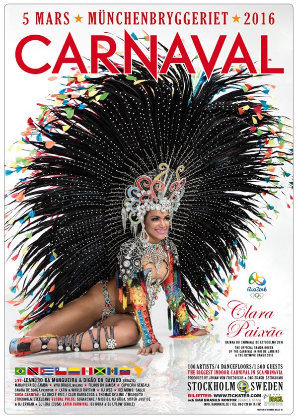Carnaval de Estocolmo – Posters 2016 + 2019